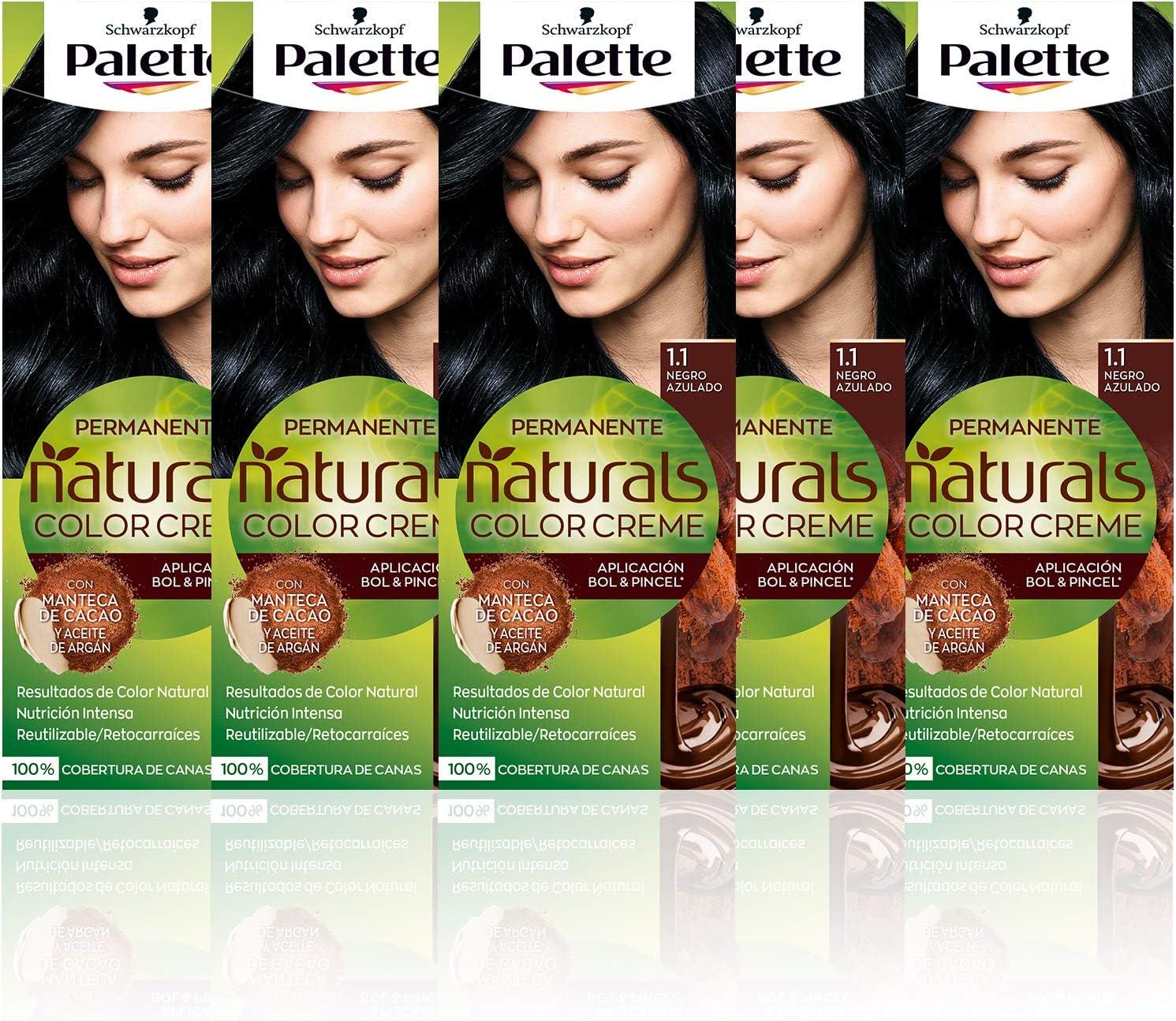 Schwarzkopf Palette Naturals Color Creme - Tono 1.1 cabello ...