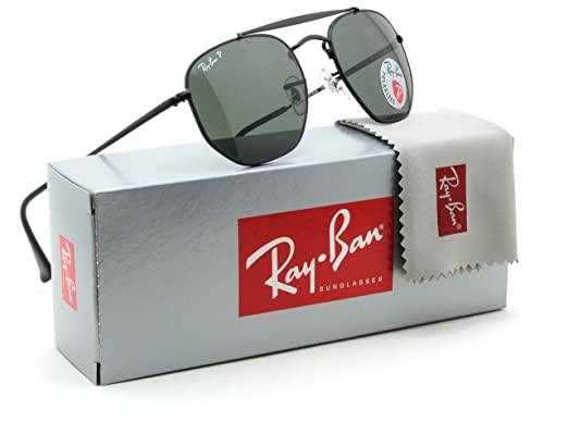 a9f551960a9 Ray-Ban RB3648 Marshal Polarized Metal Sunglasses Black 002 58 - 54   Amazon.co.uk  Clothing