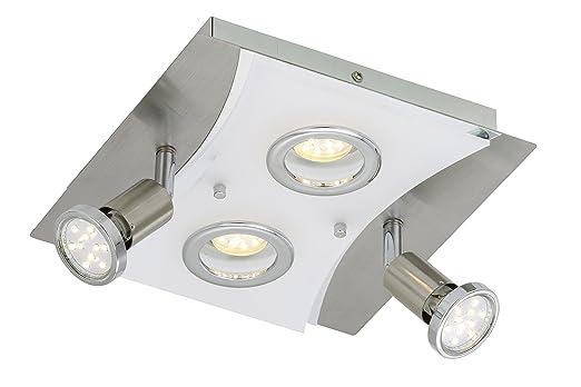 Briloner Leuchten Deckenleuchte LED Lampe Deckenlampe Strahler Spots Wohnzimmerlampe