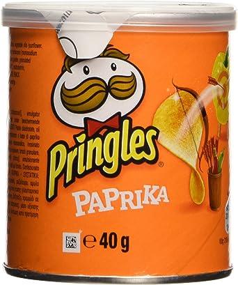 Pringles - Paprika - Producto de aperitivo frito al pimentón - 40 ...