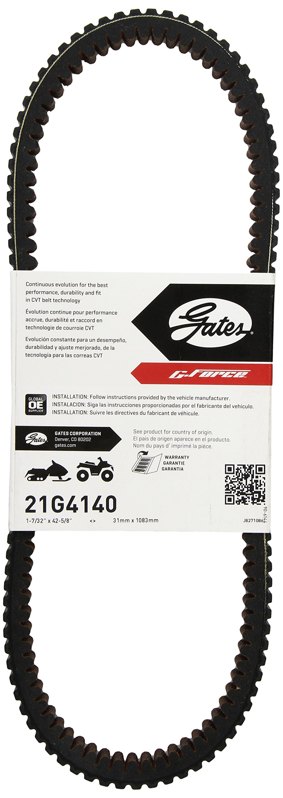 Genuine OEM Drive Belt for Polaris 2012-2014 RZR 900 /& RZR XP 1000 3211148