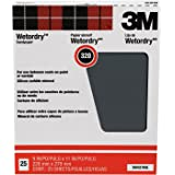 3M Pro-Pak Wetordry Between Finish Coats Sanding Sheets, 320A-Grit, 9-in by 11-in, 25-Sheets