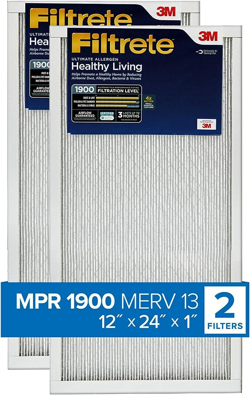 12 in Filtrete UT20-6PK-1E Air Filter White x 1 in x 24 in