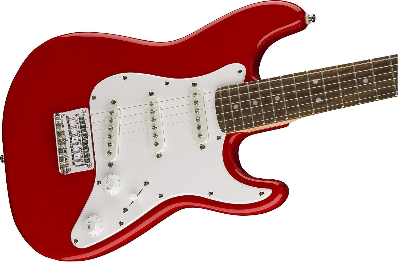 Fender Squier Mini Stratocaster Torino Red Guitarra Niños: Amazon.es ...