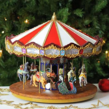 amazoncom mr christmas animated musical grand jubilee carousel decoration 19751 home kitchen - Christmas Carousel Decoration