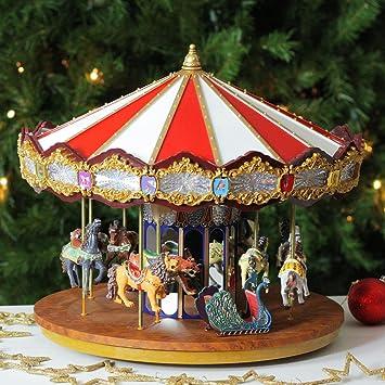 amazoncom mr christmas animated musical grand jubilee carousel decoration 19751 home kitchen - Christmas Carousel Decoration