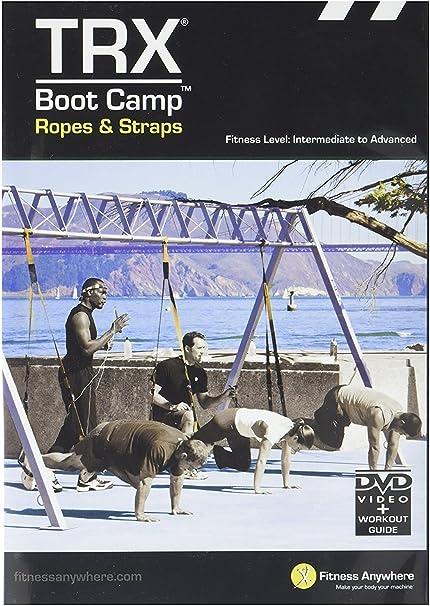 TRX Entrenamiento DVD de Campo de Entrenamiento: Cuerdas y Correas, Ejercicios de Cardio y Fuerza al Estilo Campo de Entrenamiento