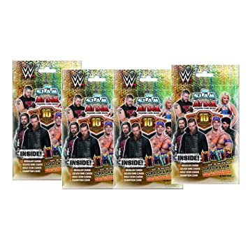 Topps WWE Slam Attax 10 TCG Collection Multi Pack (Pack of 4)