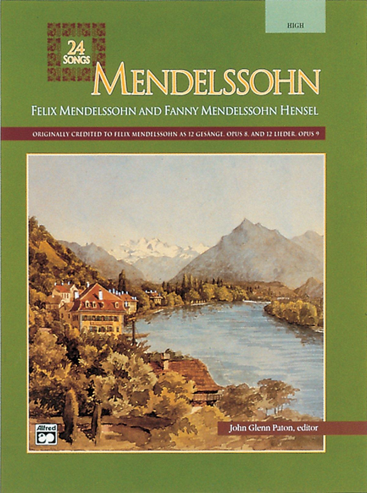 mendelssohn-24-songs-high-voice-alfred-vocal-masterworks-series