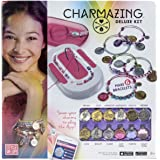 Style Me Up - DIY Friendship Bead Bracelet Craft Set with Magic Charms - Kids Fashion BFF Bangle Bracelet Making Set for Girls - Charmazing Deluxe Kit - SMU-907