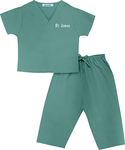 34fd2aeb823 Scoots - Personalized Kids Scrubs, Customized with Your Child's Name, Size  0-6