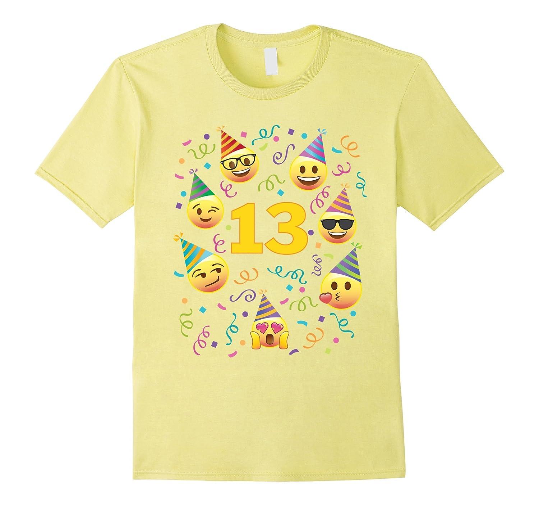Emoji Birthday Shirt For 13 Thirteen Year Old Girl Boy Party CD