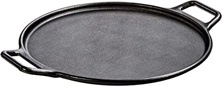 Lodge P14P3 Pro-Logic Cast Iron Pizza Pan, 14-inch, Black