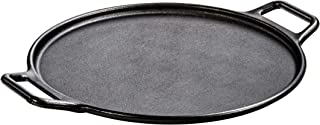 """product image for Lodge Pre-Seasoned Cast Iron Baking Pan With Loop Handles, 14"""", Black"""