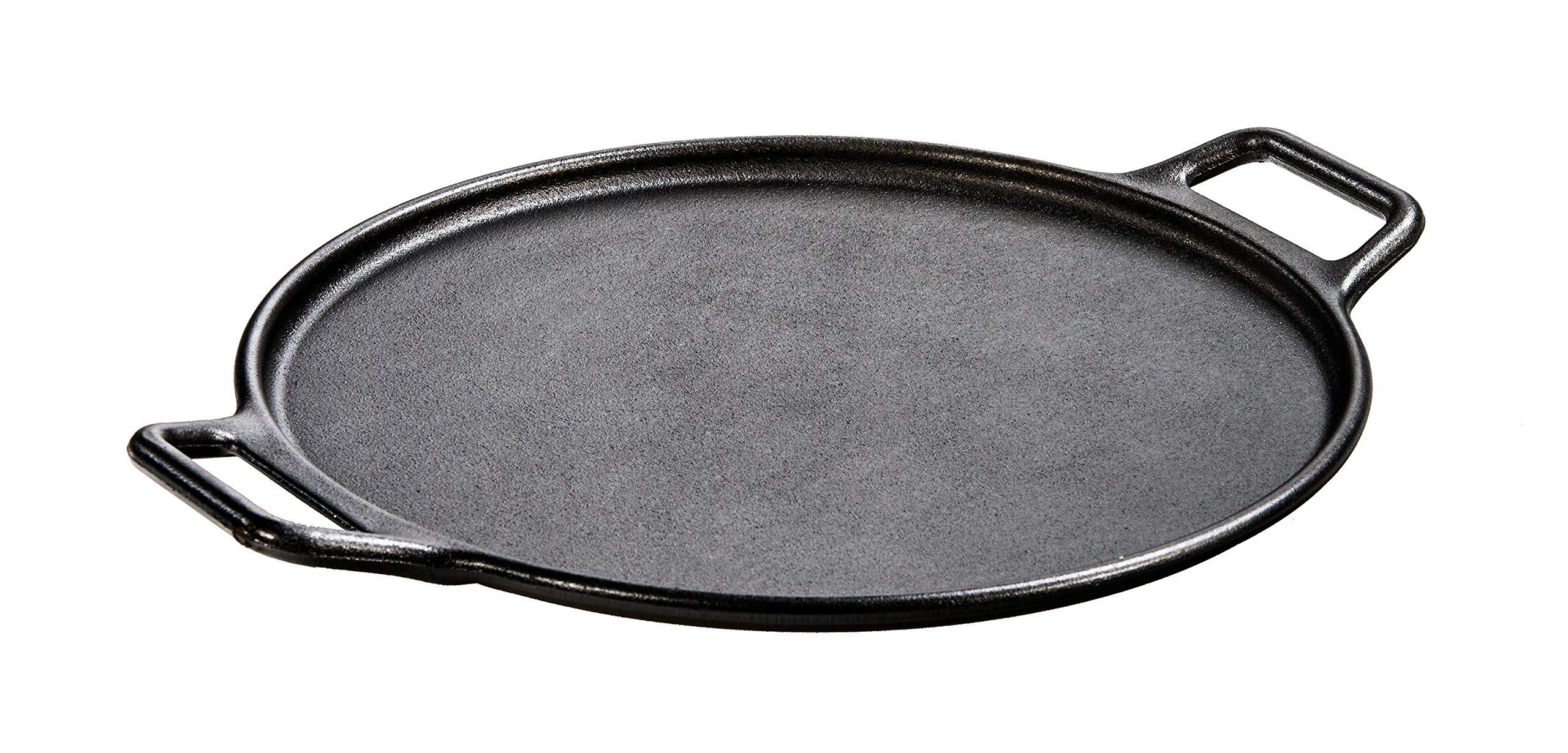 """Lodge Pre-Seasoned Cast Iron Baking Pan With Loop Handles, 14"""", Black"""