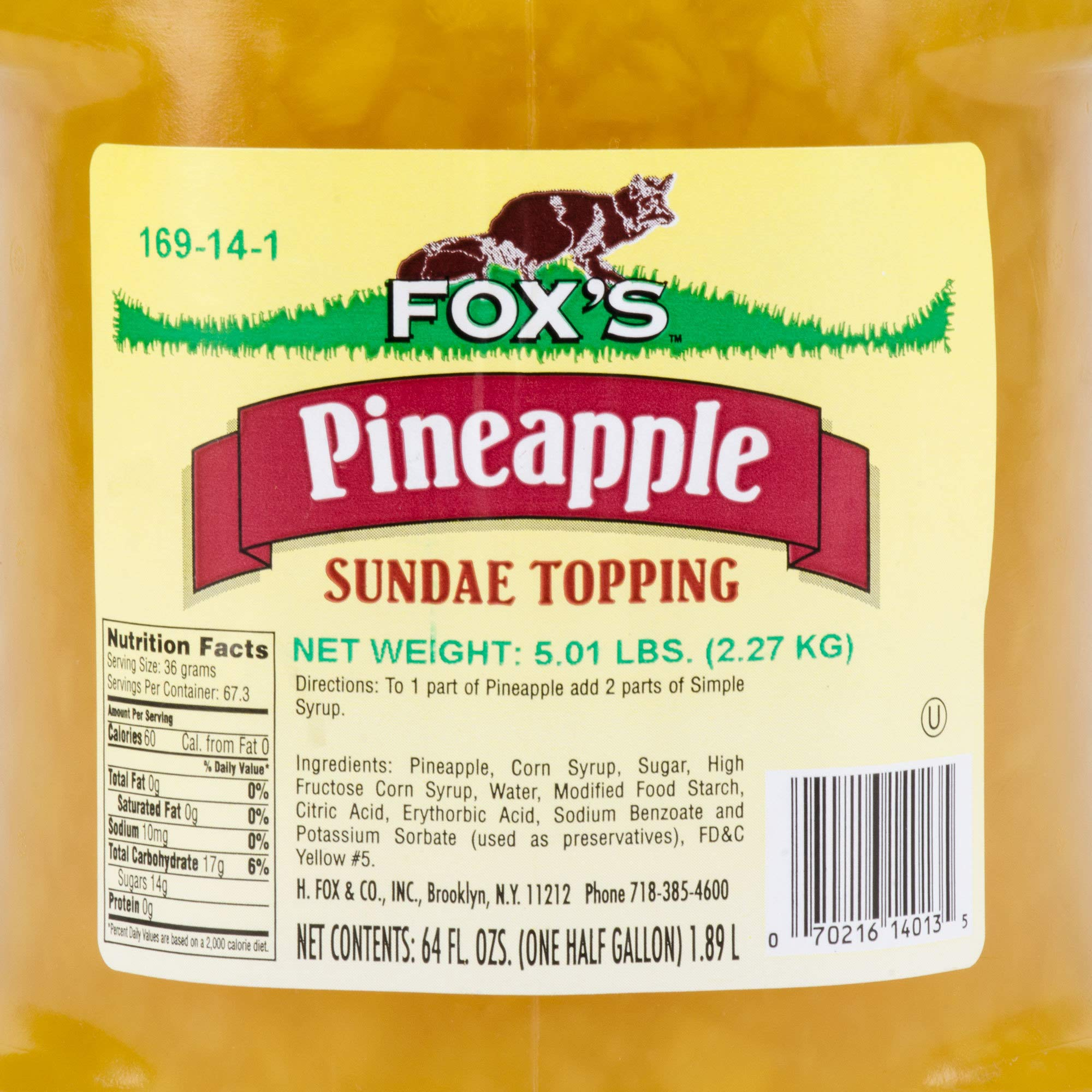 TableTop King 1/2 Gallon Pineapple Ice Cream Sundae Topping - 6/Case by TableTop King (Image #2)