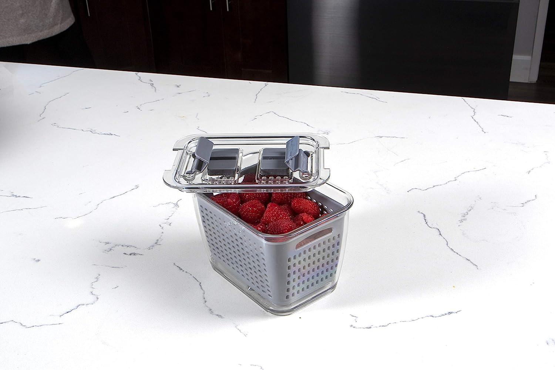 Small Gray Kitchen Spaces Colander Bin