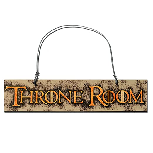 Trono cartel de puerta de la habitación – 23 x 4,5 cm gran ...