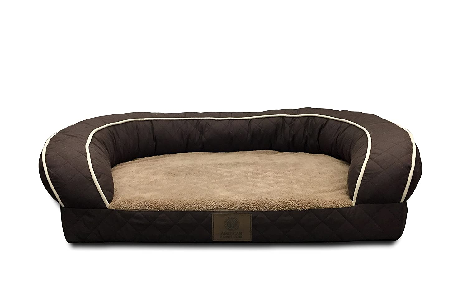 American Kennel Club AKC1852BROWN Orthopedic Sofa Bed Quilted