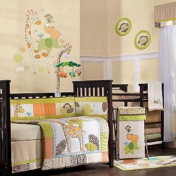 carters wildlife 4 piece crib bedding set