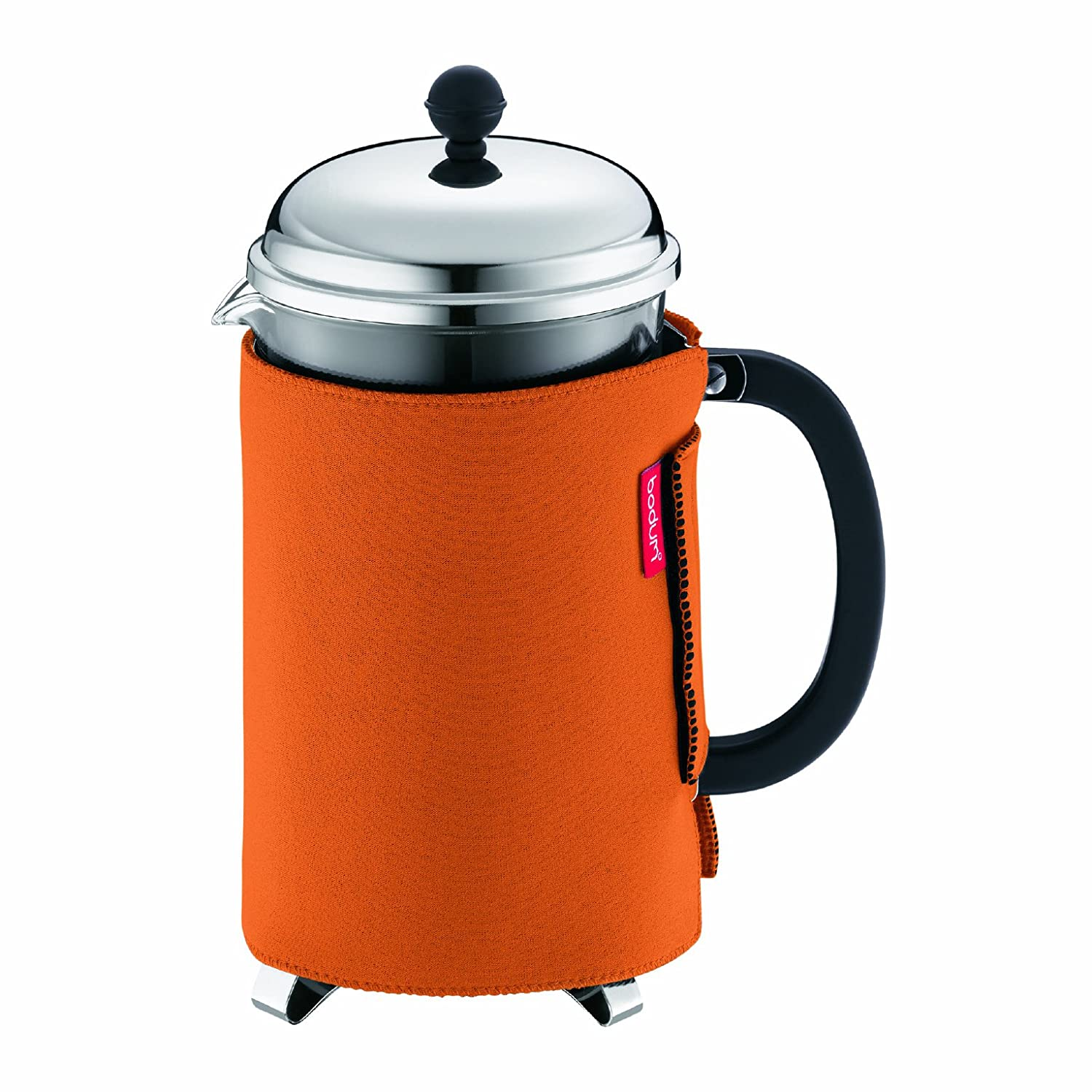 BODUM Nero 1.5 Litre 51 oz Coffee Coat for Chambord Coffee Maker, 12 Cups, Orange 10998-106