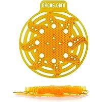 "Diversey power screen 30 Day Premium Anti-Splash Urinal Screen and Deodorizer - Fits Most Top Urinal Brands, 8"" x 7"" Orange/Tropical (10 Pack)"