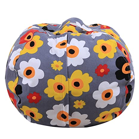 Astounding Amazon Com Mxinran Kids Stuffed Animal Storage Bean Bag Squirreltailoven Fun Painted Chair Ideas Images Squirreltailovenorg