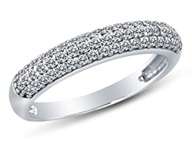 Round White Cubic Zirconia CZ Ring Jewelry for Women Cttw 4.1