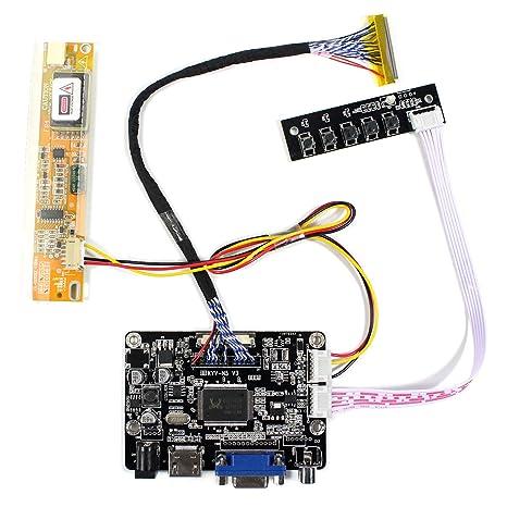 Amazon com: HDMI VGA AV Input LCD Controller Board For 15 4