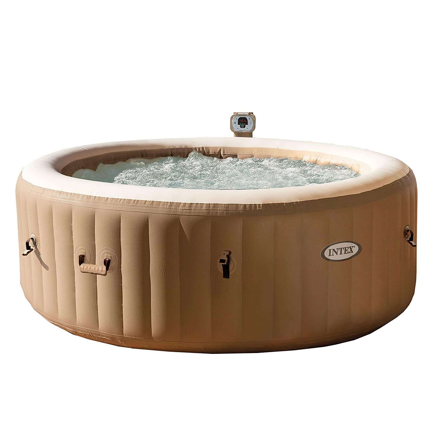 soothing on ready sale minutes intex pamper in bubble deflated portable tubs storage pin and spa with tub a inflatable for backyard p hot her easy own mom jets patio