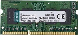 Kingston Technology ValueRAM 2GB 1600MHz DDR3 Non-ECC CL11 SODIMM SR X16 Notebook Memory KVR16S11S6/2