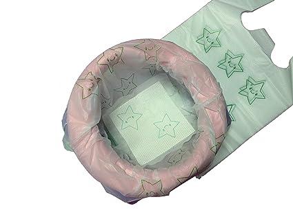 Pack de 30 toallitas desechables y biodegradables, protección de asiento para orinales de bebé
