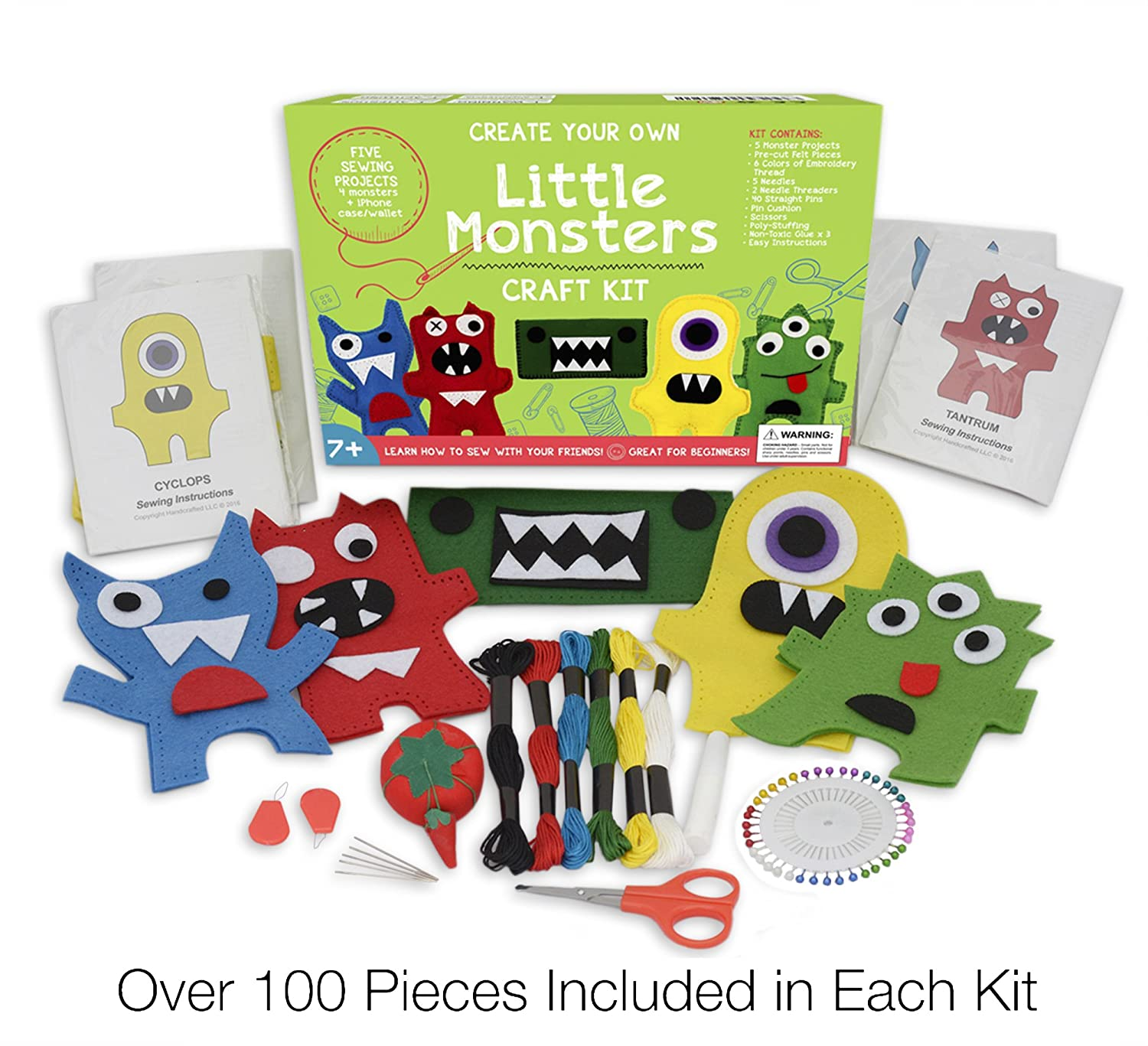 Amazon Craftster s Sewing Kits Little Monsters Beginners