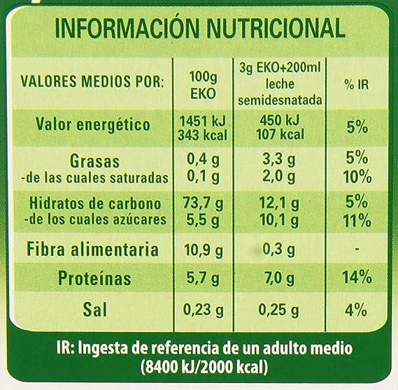 Nestlé EKO - Cereales solubles - Cereales solubles sabor Natural - 900 g: Amazon.es: Alimentación y bebidas