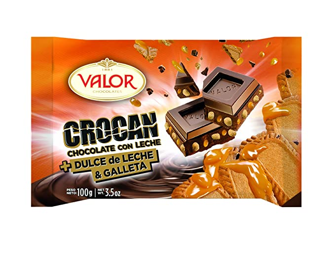 Chocolates Valor - Crocan Dulce Leche 100 g