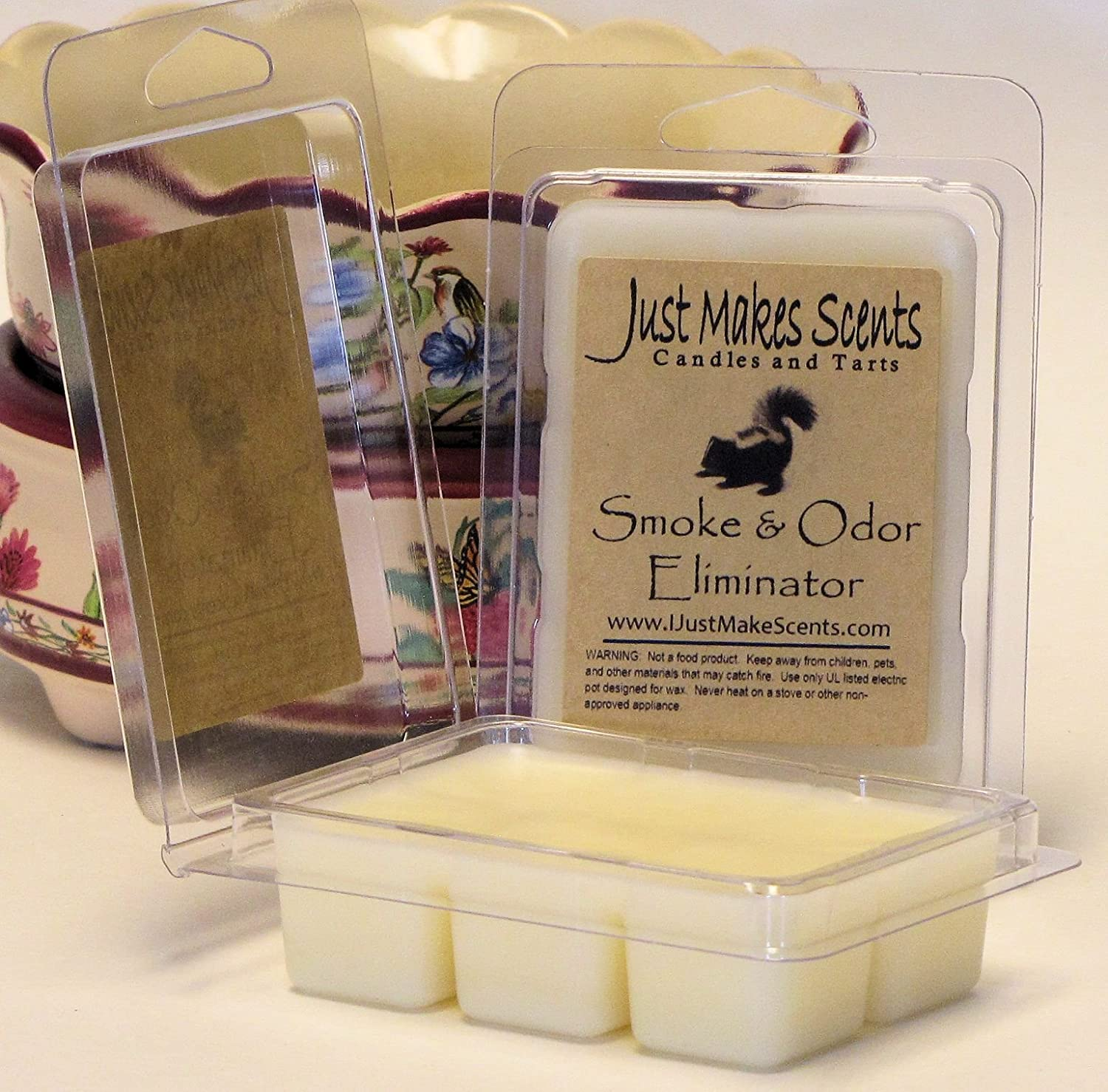 Just Makes Scents 2 Pack Smoke /& Odor Eliminator Scented Wax Melts