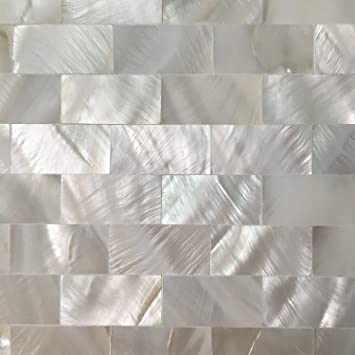 Art3d 6 Pack Peel And Stick Mother Of Pearl Shell Tile For Kitchen Backsplashes