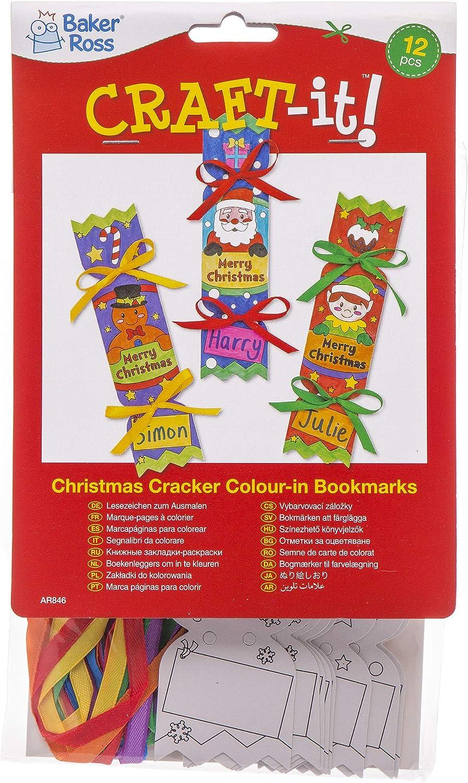 Baker Ross Marcapáginas de petardos navideños para Colorear (Pack ...