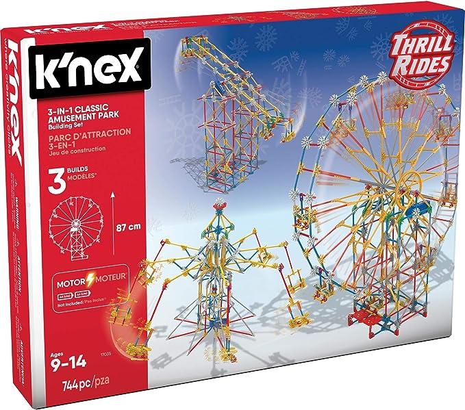 K'NEX Thrill Rides - 3-in-1 Classic Amusement Park Building Set, Multicolor | Amazon