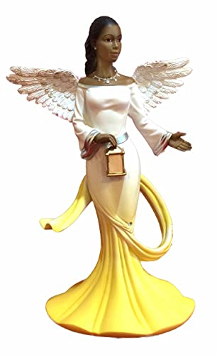 Sash Angel in Yellow African American Angel Statue