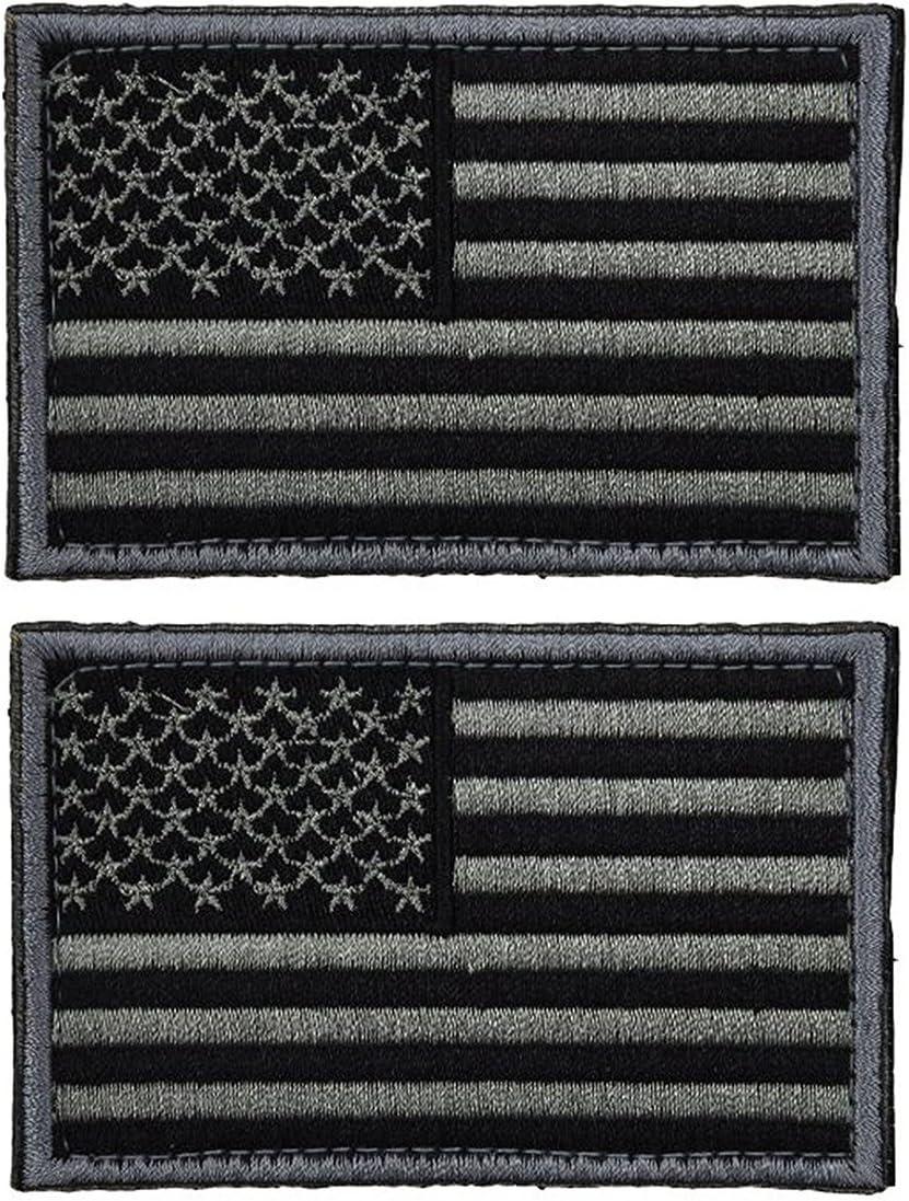 ultnice Flag parches Táctica Estados Unidos Bandera Patch etiqueta US Militares Uniforme Emblema parches Pack 2: Amazon.es: Hogar
