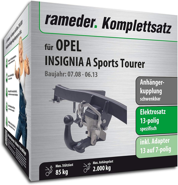 AHK für Opel Insignia 13-17 Sports Tourer abnehmbar 13-polig E-Satz ABE