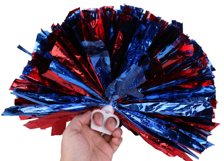 Cheerleading Pom Poms Cheerleading Kunststoff Ring Papier Cheerleader Pom Poms Set von 2 Olen