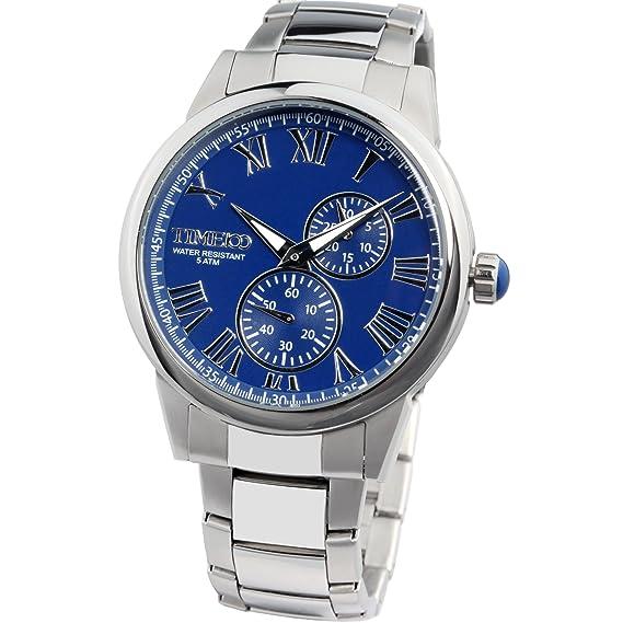 Time100 Reloj de pulsera hombre, color dorado: Time100: Amazon.es: Relojes