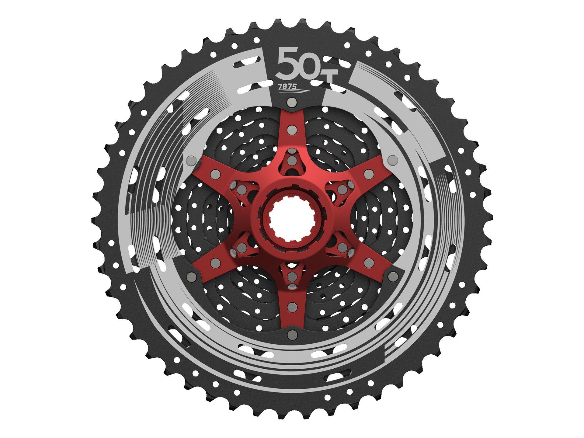 Sunrace 12-speed 11-50T cassette freewheel CSMZ90 WA5 wide ratio MTB in Black with RD extender by JGbike (Image #4)
