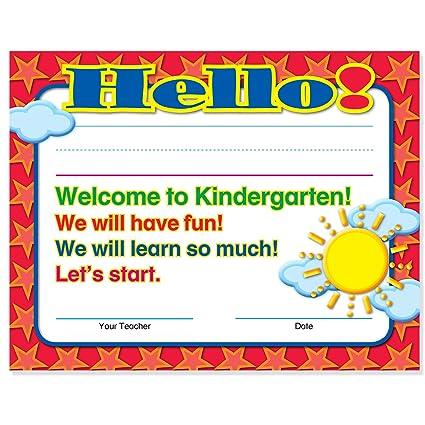 Amazon.com : Welcome to Kindergarten Certificates 50 Pack ...