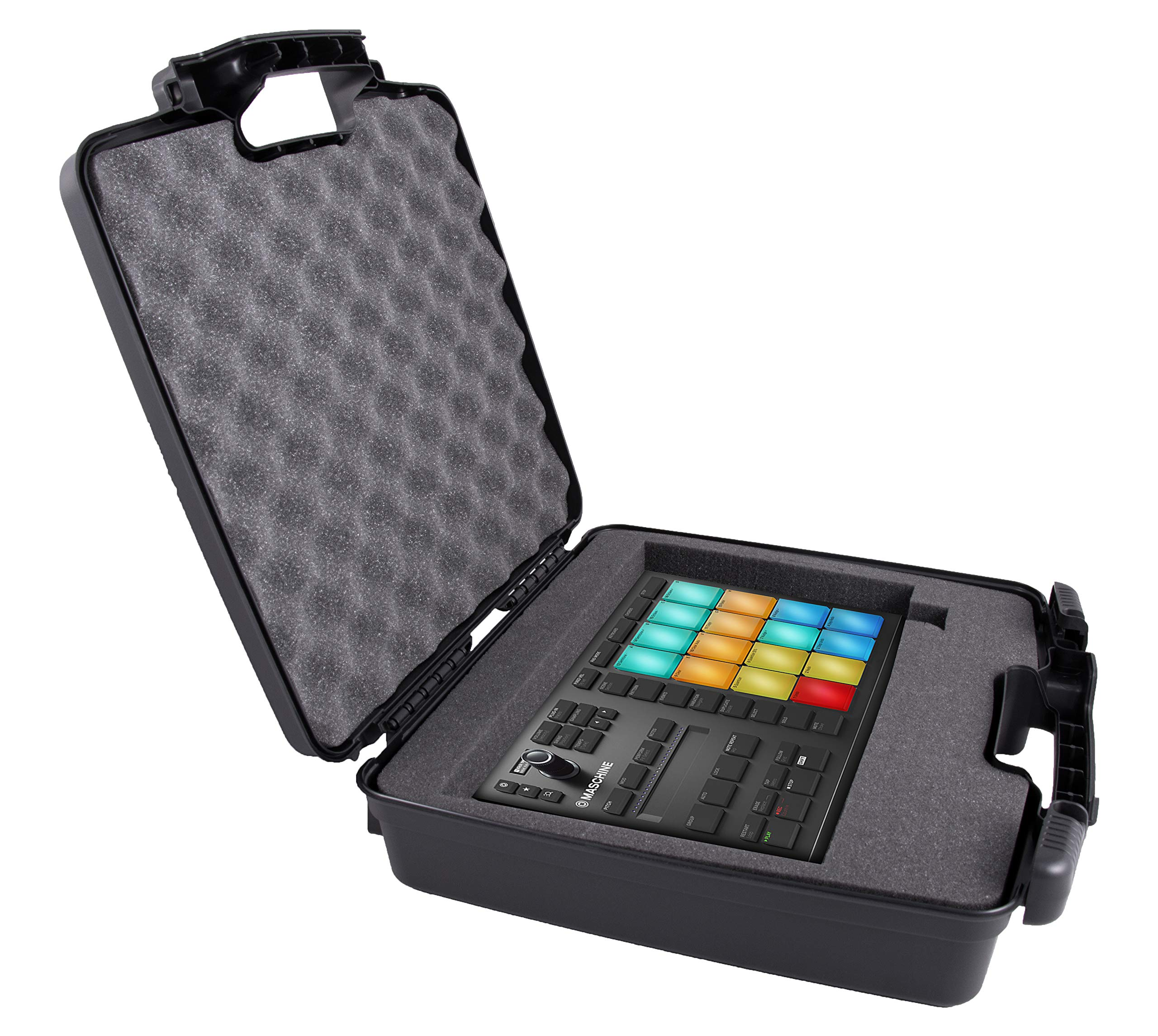 CASEMATIX Protective Hard Travel Case Fits Native Instruments Maschine Mikro Mk3 Drum Controller - Impact Protection, Dense Padded Foam by CASEMATIX (Image #4)