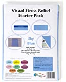 Crossbow Education Visual Stress Relief Starter Kit - Sky Blue