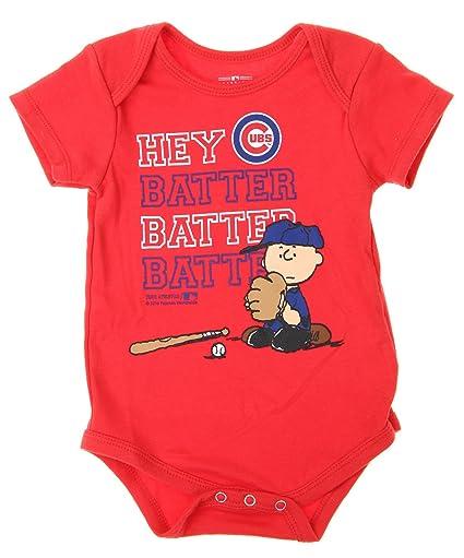 Amazon Com Mlb Chicago Cubs Baby Boys Infants Peanuts Love Baseball