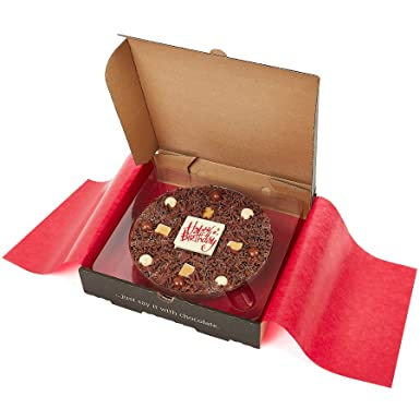 Gourmet Chocolate Pizza Diseño del feliz cumpleaños de 7 ...